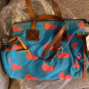 Dooney & Bourke Blue and Hot Pink Handbag